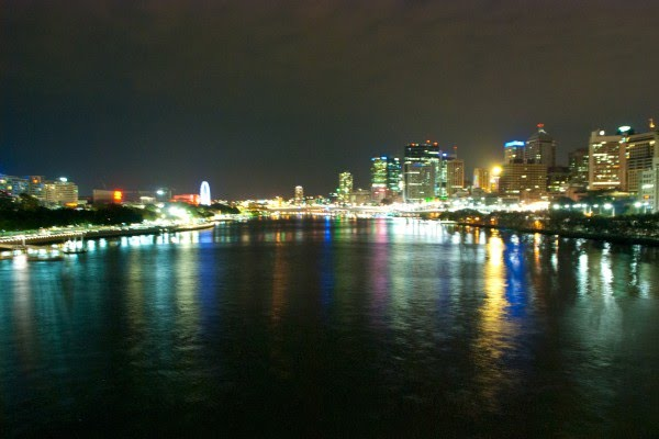 Brisbane City Night Photography from the Goodwill Bridge